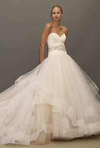 Pink Lazaro Wedding Dress