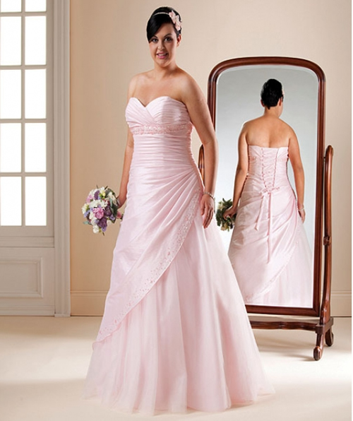 Pink And White Wedding Gowns: Pink Wedding Dress