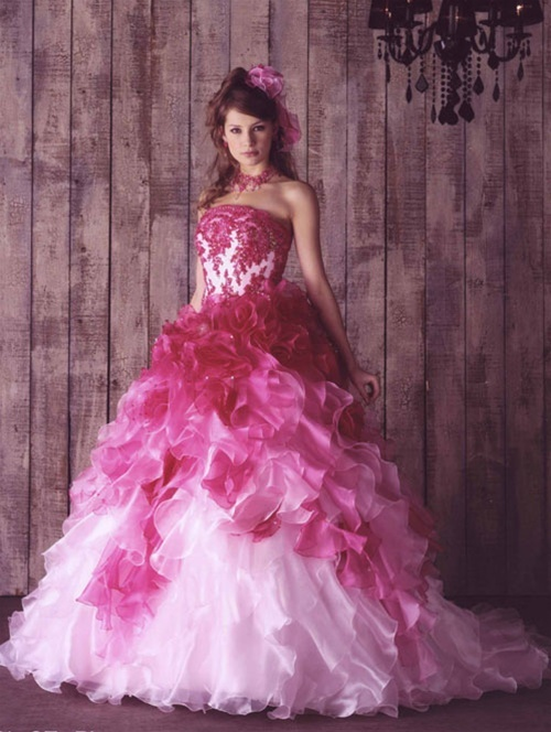 Pink wedding dress dressed up girl pink wedding dress junglespirit Image collections