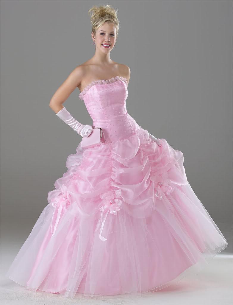 wedding dresses in pink | Wedding