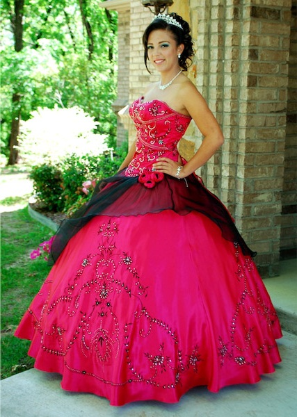 pink and black quinceanera dresses - Dress Yp