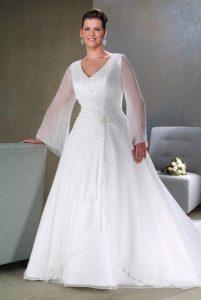 Plus Size Long Sleeve Wedding Dresses
