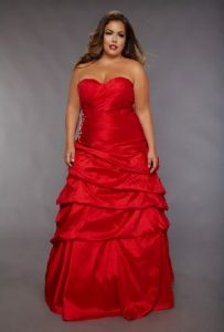 Plus Size Red Wedding Dresses