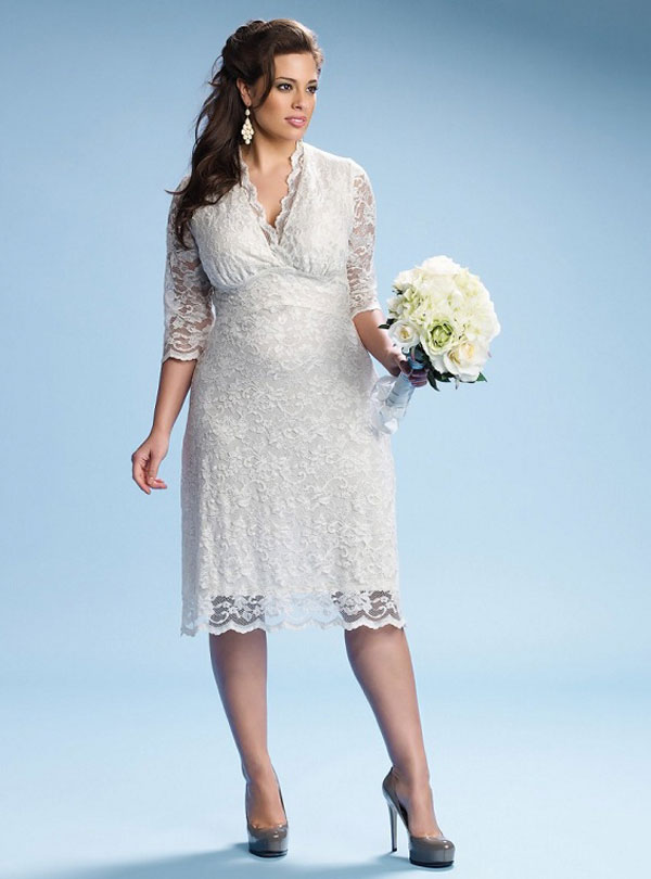 Plus size wedding dresses dressed up girl for Wedding vow renewal dresses plus size