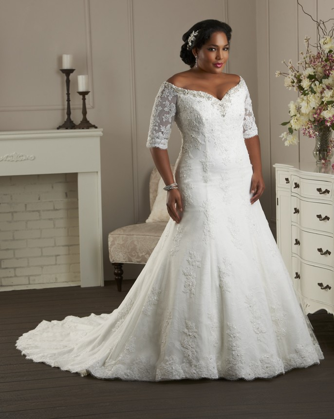 Plus size wedding dresses dressed up girl plus size wedding dress with sleeves junglespirit Image collections