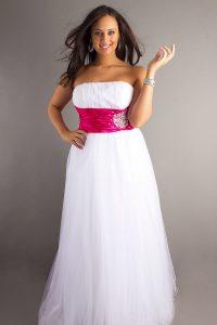 Plus Size White Prom Dresses