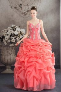 Quinceanera Coral Dress