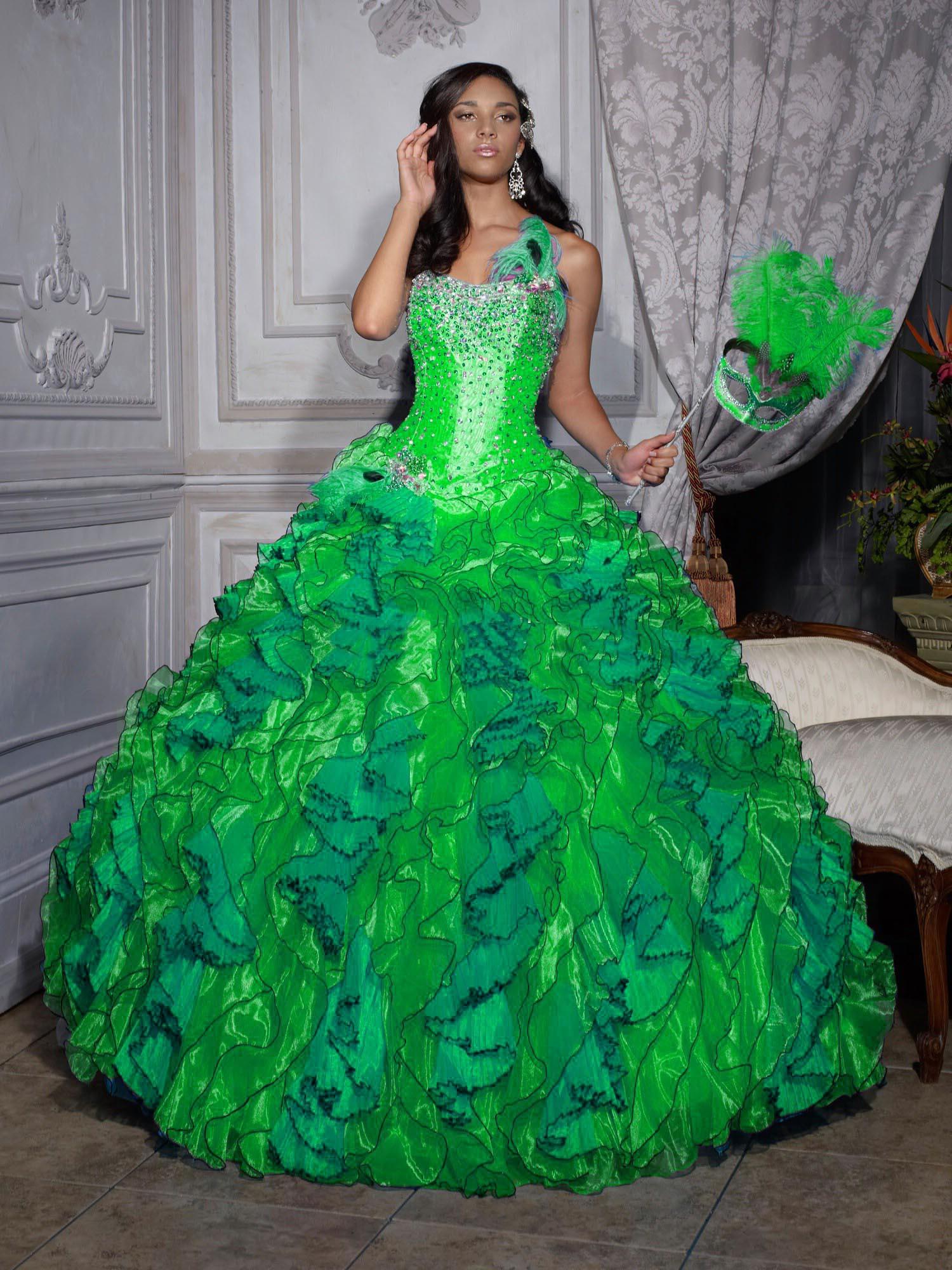 Green Quinceanera Dresses Dressedupgirl Com