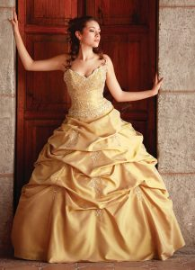 Quinceanera Gold Dresses