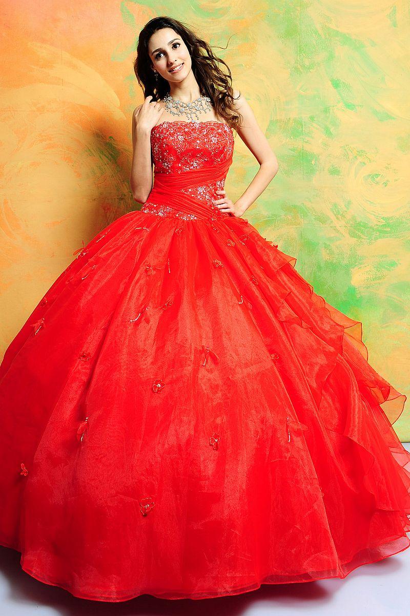Red Quinceanera Dresses Picture Collection Dressedupgirl Com