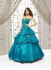 Quinceanera Teal Dresses