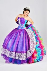 Rainbow Quinceanera Dress