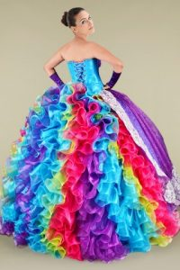 Rainbow Quinceanera Dresses