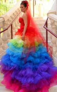 Rainbow Quinceanera Dresses for Women