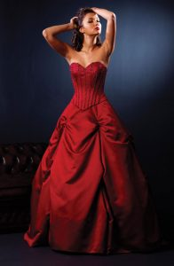 Red Dress Wedding