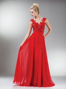 Red Lace Prom Dress