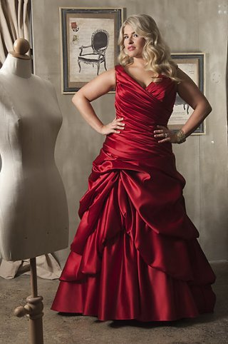 Red Wedding Dresses Plus Size