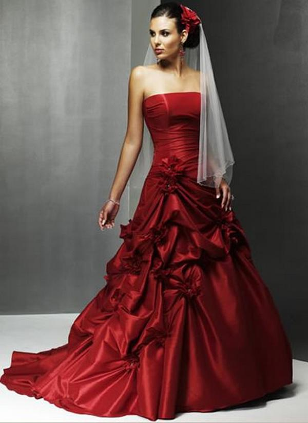 Red wedding dresses dressed up girl red wedding dresses junglespirit Images