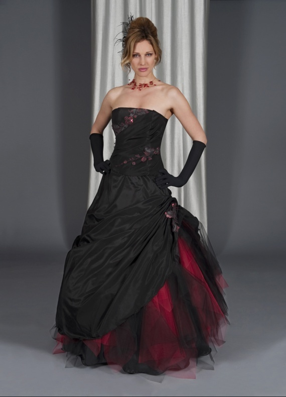 Black Wedding Dresses Dressed Up Girl