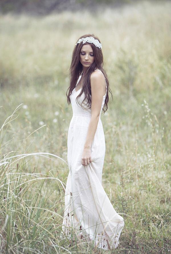 Bohemian wedding dress dressed up girl for Romantic bohemian wedding dresses