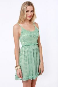 Sage Green Lace Dress