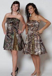 Short Camo Wedding Dress