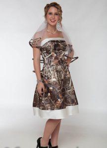Short Camo Wedding Dresses