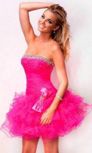 Short Pink Prom Dresses