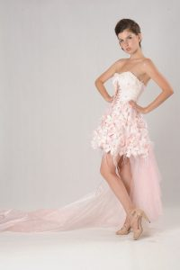 Short Pink Wedding Dresses