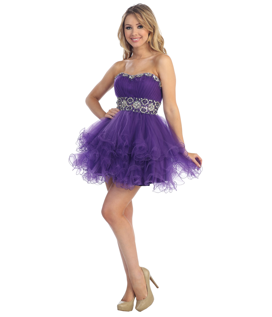 Graduation Dresses Short Purple - Long Dresses Online