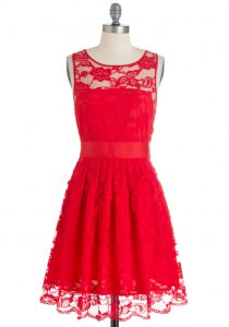 Short Red Lace Dress