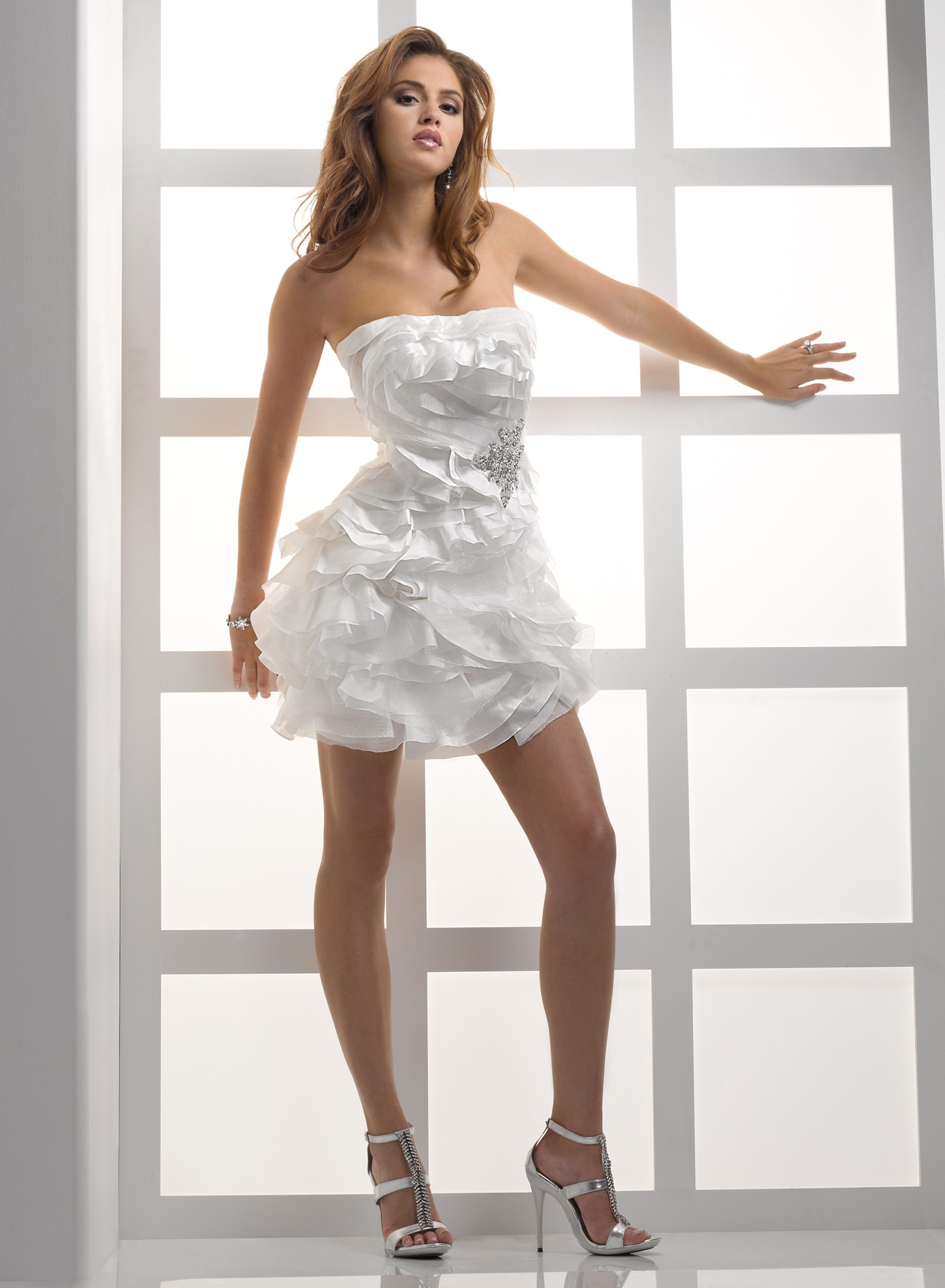 Strapless wedding dresses dressed up girl for Short wedding dresses uk