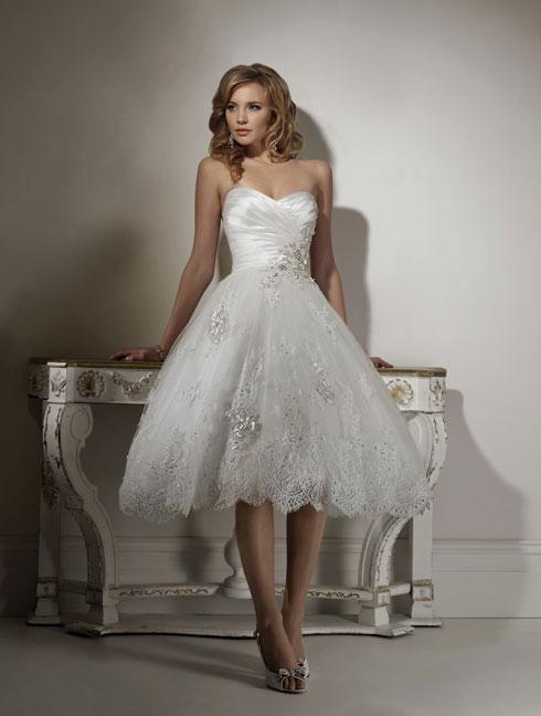 Short Brides Dress