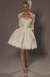 Short White Wedding Dress