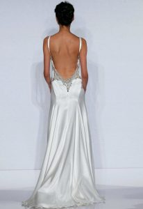 Silk Backless Wedding Dress