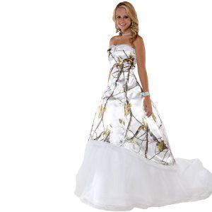 Snow Camo Wedding Dress