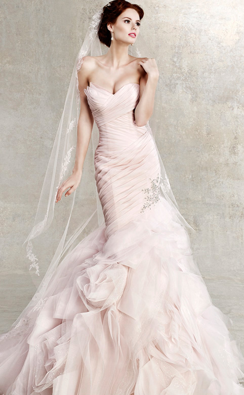 pink wedding dress vera wang pink wedding dress wedding dress pink