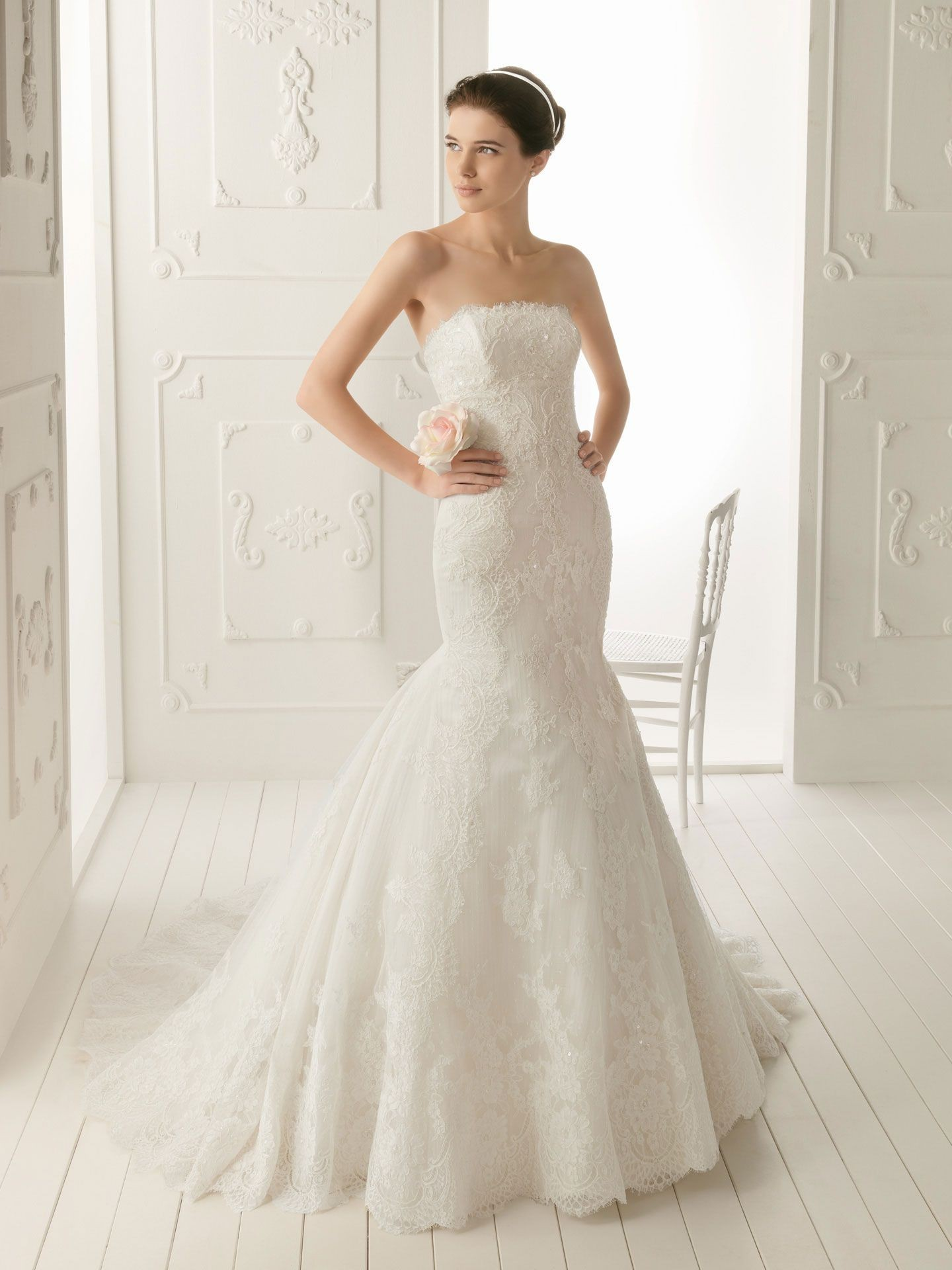 Strapless Mermaid Wedding Dress