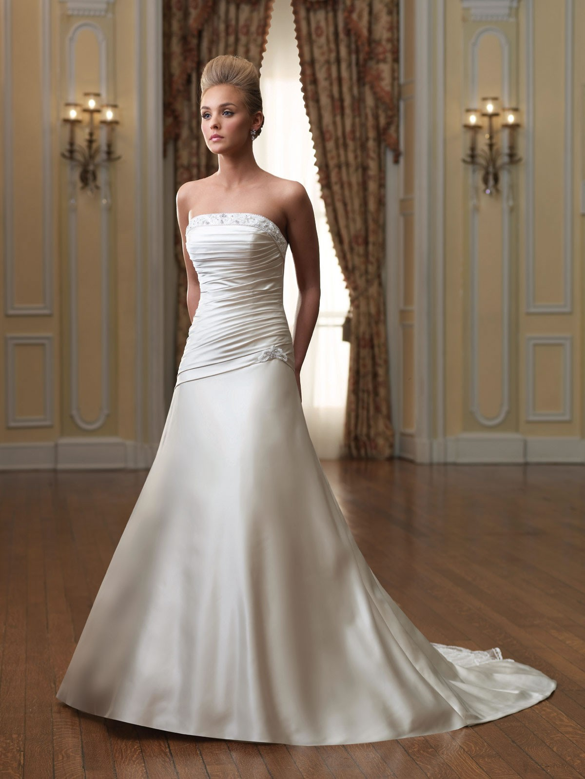 Bridal Wedding Dresses | Style - MB3015 in Ivory/Champagne