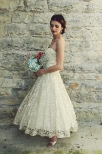 Tea Length Lace Wedding Dresses