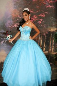 Teal Dresses Quinceanera