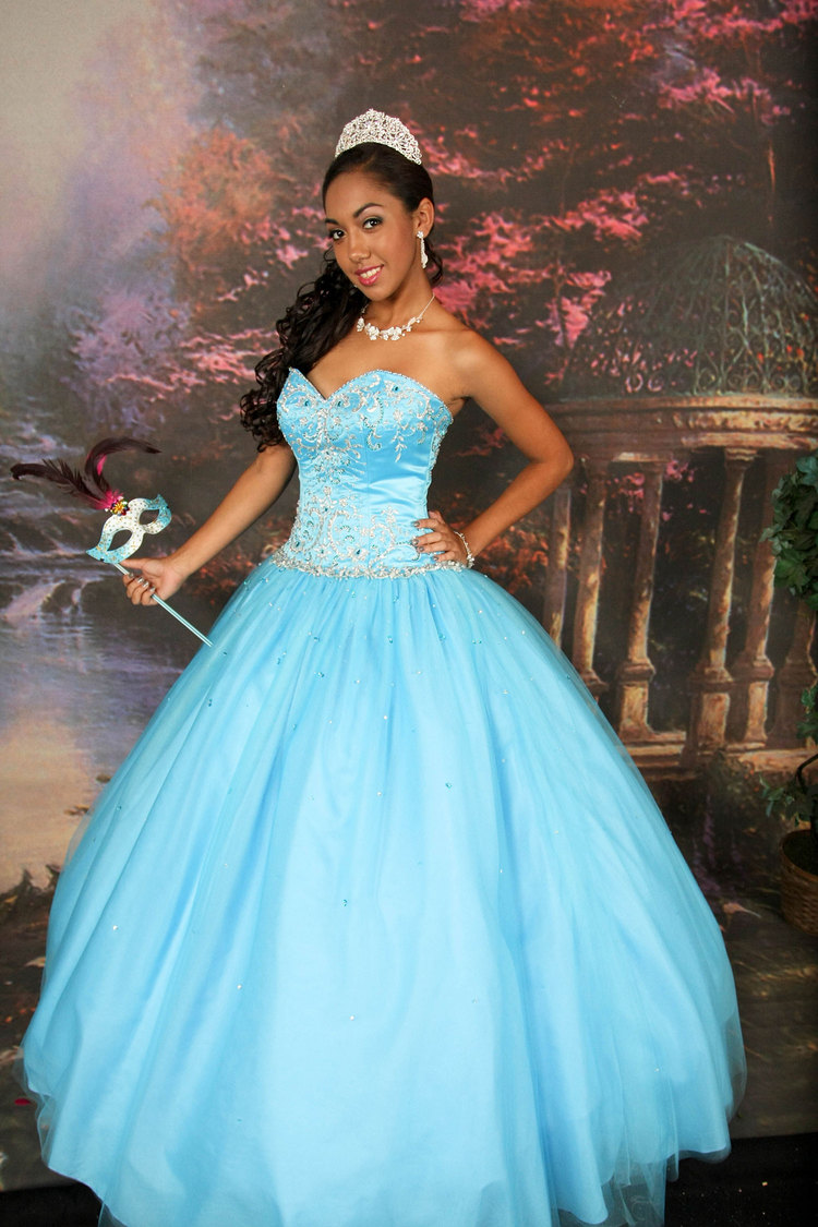 Teal Quinceanera Dresses Dressed Up Girl