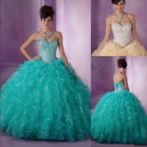 Teal Quinceanera Dress