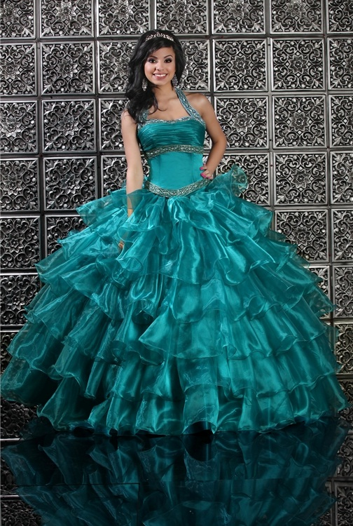 Teal quinceanera dresses 2015