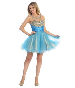 Turquoise Short Prom Dresses
