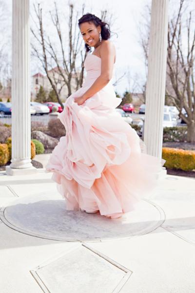 Blush wedding dress dressed up girl for Pink wedding dress vera wang