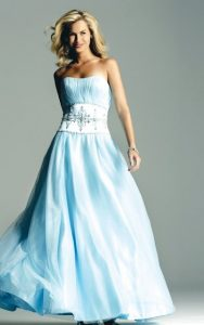 Wedding Dress Blue