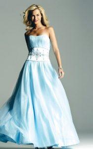 Wedding Dress Blue