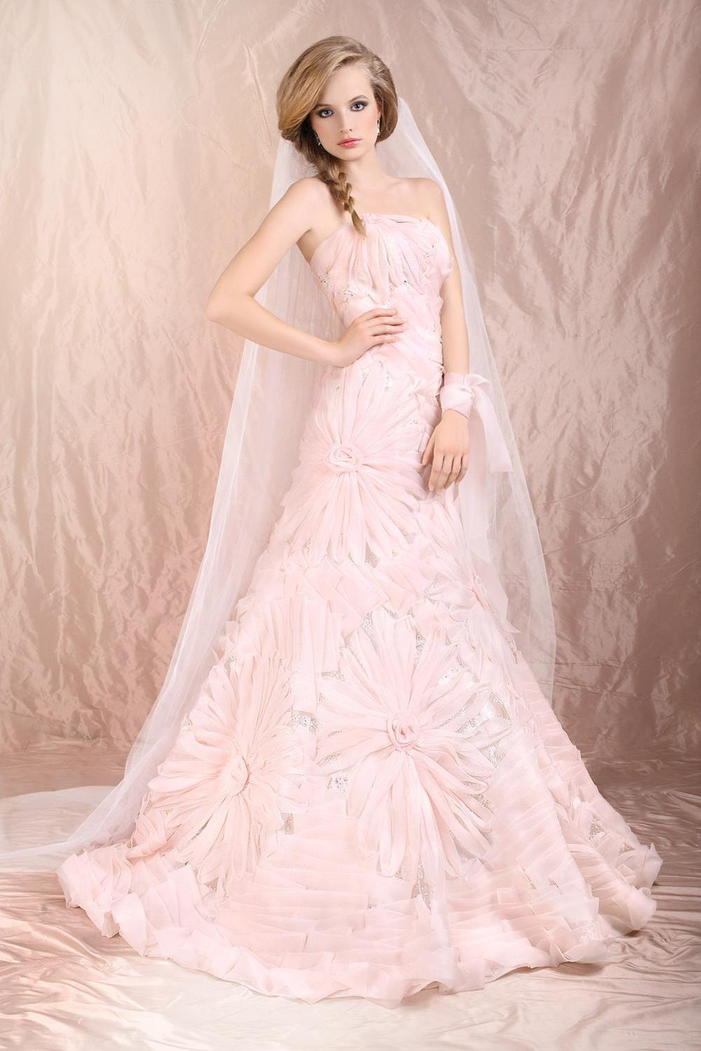 Blush Wedding Dress Dressedupgirl Com