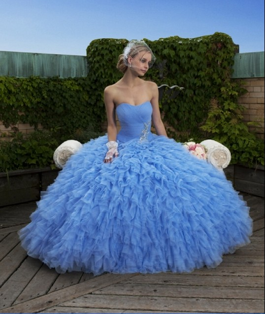 Blue wedding dresses dressed up girl for Wedding girl dress up